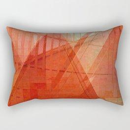 Orange abstract  Rectangular Pillow