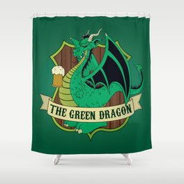 The Green Dragon Pub Shower Curtain