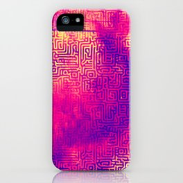 Turing Pattern 1 (Cyberpunk Gradient 1) iPhone Case