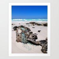 Fishing Net on Boulders, Fitzgerald River National Park, Western Australia (P2078335) Art Print