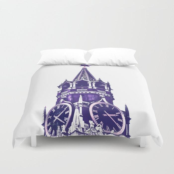 Kremlin Chimes-violet Duvet Cover
