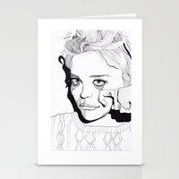 sky ferreira Stationery Cards featuring Sky Ferreira by ☿ cactei ☿