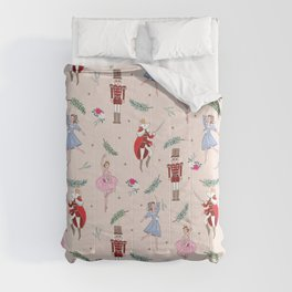 The Nutcracker Christmas On Ballet Shoe Pink Comforters
