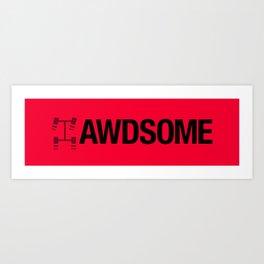 AWDSOME v4 HQvector Art Print