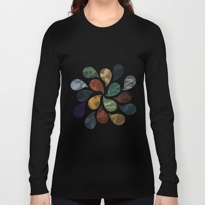 Colorful Water Drops (Watercolor version) Long Sleeve T-shirt