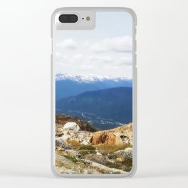 Many layers of a mountain view Clear iPhone Case