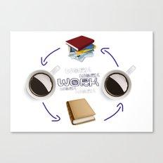 Coffee And Books - Recipe For Success Guaranteed  Canvas Print