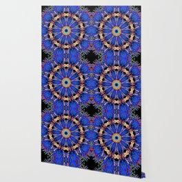 Blooming Nuttall Thistle Neon Kaleidoscope Wallpaper