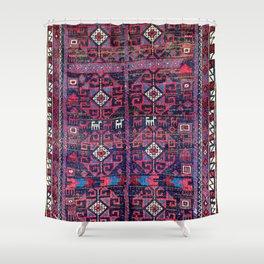 Baluch Khorasan Northeast Persian Rug Print Shower Curtain