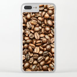 Roasted Coffee Beans Clear iPhone Case