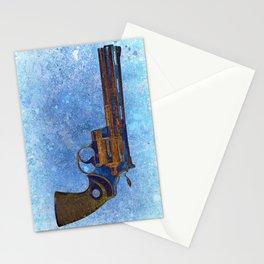 Colt Python 357 Magnum on Blue Back Ground Stationery Cards
