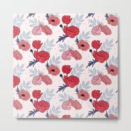 Floral crib sheet Metal Print
