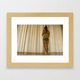 Waiting for the sun. Framed Art Print