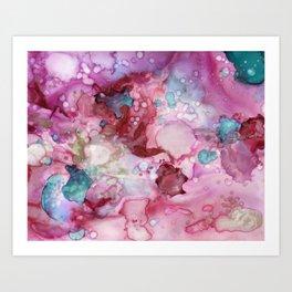 Pink Paralysis Art Print