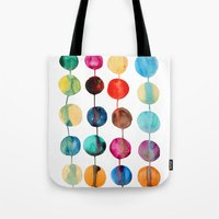planets Tote Bags featuring Planets by Mille Dørge
