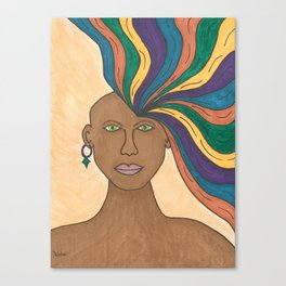 Woman Losing My Mind Canvas Print