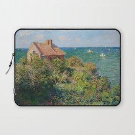 Fisherman's Cottage on the Cliffs at Varengeville Claude Monet Laptop Sleeve