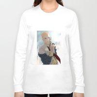 nordic Long Sleeve T-shirts featuring Nordic God by Viktor Macháček