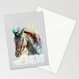 Watercolor Horse Portrait Stationery Cards