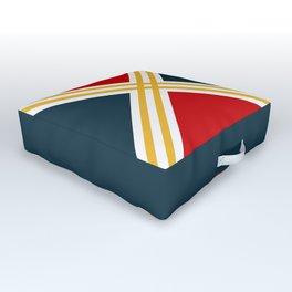 Nautical geometry 3 Outdoor Floor Cushion