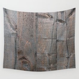 Brown Wood Panels Wall Tapestry