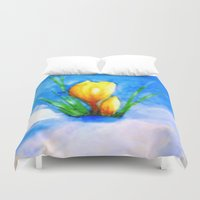be brave Duvet Covers featuring Brave by Lidia von Essen