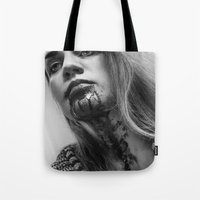 blood Tote Bags featuring Blood by Ashley Boxler