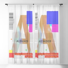 "Cocktail ""A"" - Alexander Sheer Curtain"