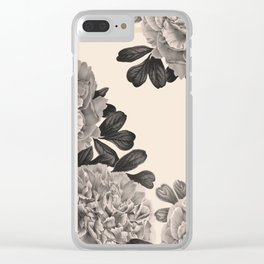 Flowers on a winter day Clear iPhone Case