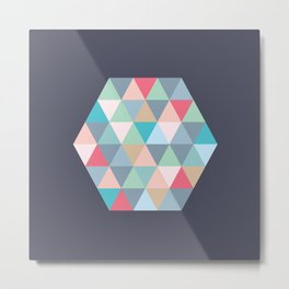 hexagon Metal Print