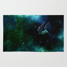 Space Hummingbird Rug