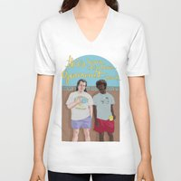 pulp fiction V-neck T-shirts featuring Pulp Fiction by Mexican Zebra