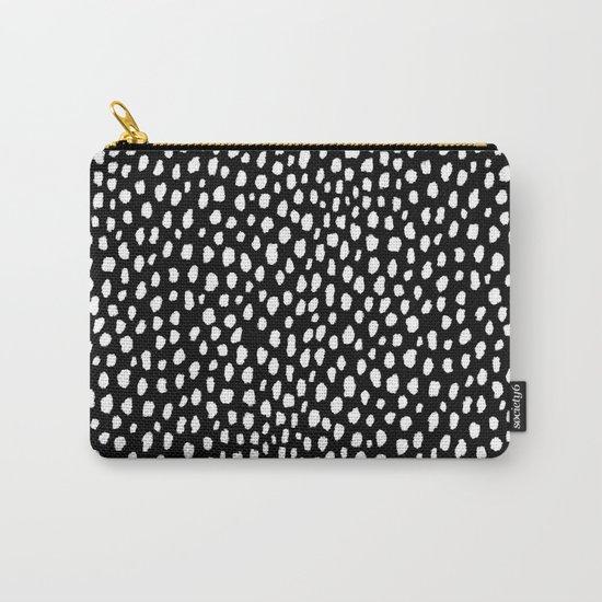 Handmade polka dot brush strokes (black and white reverse dalmatian) by designmindsboutique