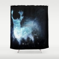 stag Shower Curtains featuring stag by Tati™