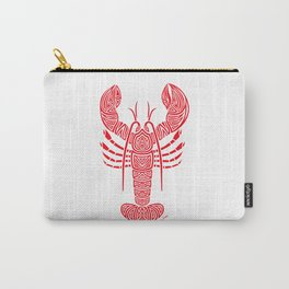 Tribal Maine Lobster on White Carry-All Pouch