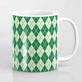 Green Argyle Pattern Coffee Mug