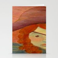 pirates Stationery Cards featuring Pirates  by CataBeja Umaña Azul