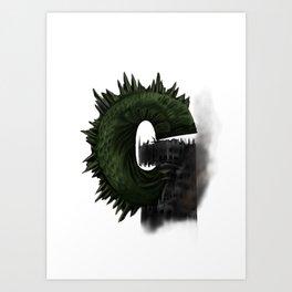 Geek letter G Art Print