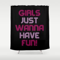 girls Shower Curtains featuring Girls by I Love Decor