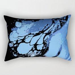 Blues and Black ; Fluid Abstract 49 Rectangular Pillow