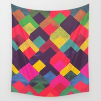 georgiana paraschiv Wall Tapestries featuring colour + pattern 11 by Georgiana Paraschiv