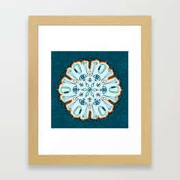 Trad Climbing Mandala Framed Art Print