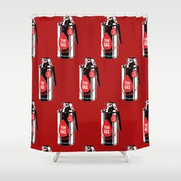 Tear gas grenade Shower Curtain