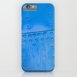 Abstract Of Blue Fuselage Of The Vintage Aircraft iPhone Case