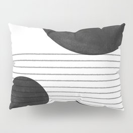 Black and White Balance Pillow Sham