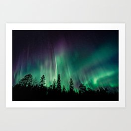 Aurora Borealis (Heavenly Northern Lights) Art Print