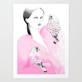 Lady Bird - Mad Kestrel Art Print