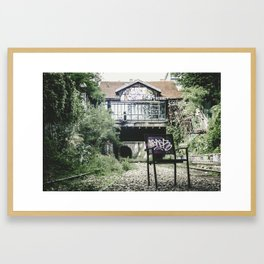 The Other Side of the Tracks Framed Art Print