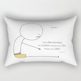 No matter where you go Rectangular Pillow