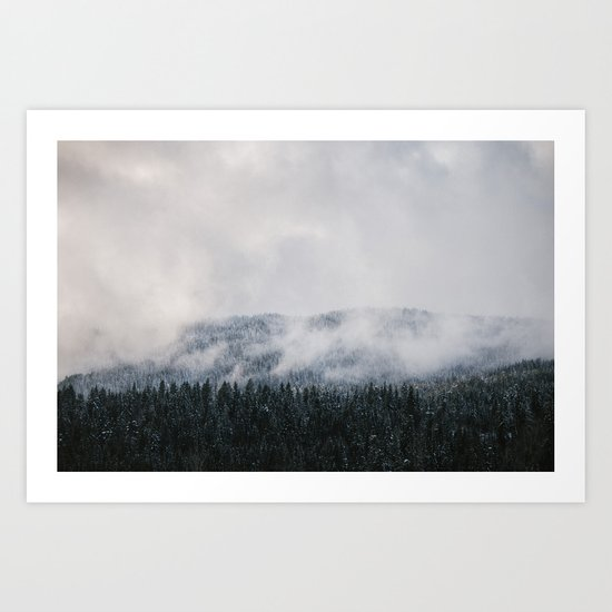 Winter V Art Print